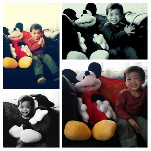Nate with his new buddy Mickey :)